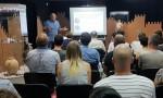 Лекция прошла в зале выставки находок Фанагории